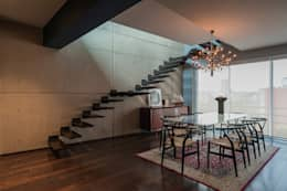 DEPARTAMENTO EN LA CONDESA II: Comedores de estilo ecléctico por MAAD arquitectura y diseño