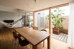 modern Dining room by 藤森大作建築設計事務所
