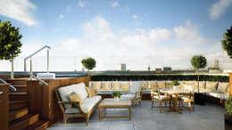 Tерраса в . Автор – Debbie Flevotomou Architects Ltd.