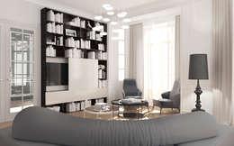 Beausoleil: Salon de style de style Méditerranéen par ZR-architects