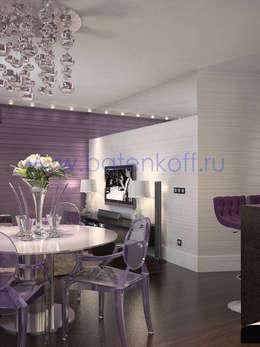 Дизайн проект гостиной и прихожей: Медиа комнаты в . Автор – Дизайн студия 'Дизайнер интерьера № 1'