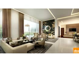 Pent house: modern Living room by Dutta Kannan architects