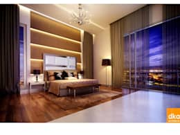 Pent house: modern Bedroom by Dutta Kannan architects