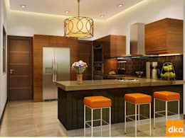 Mockup 3 BED Luxury Apartment: modern Kitchen by Dutta Kannan architects