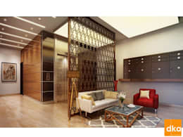 Mockup 3 BED Luxury Apartment: modern Living room by Dutta Kannan architects
