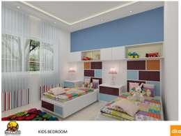 Kolte Patil Mirabillis apartment: modern Nursery/kid's room by Dutta Kannan architects
