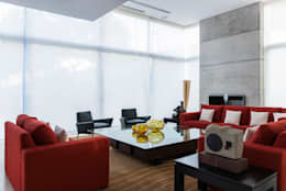 Residencia Cd de México 03: Salas de estilo moderno por Studio Orfeo Quagliata