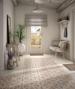 Pasillos, vestíbulos y escaleras de estilo rural por Equipe Ceramicas