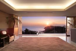 最高の借景: PROSPERDESIGN ARCHITECT OFFICE/プロスパーデザインが手掛けた玄関・廊下・階段です。