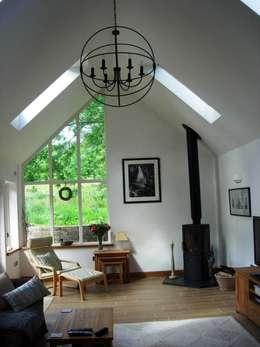Projekty,  Salon zaprojektowane przez Roundhouse Architecture Ltd