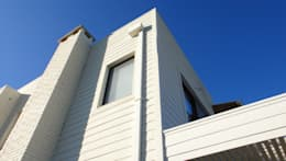 Detalle revestimientos: Casas de estilo moderno por 2424 ARQUITECTURA