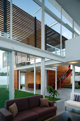 Casas de estilo minimalista por Echauri Morales Arquitectos