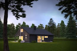 3d Exterior House Rendering from Pred Solutions: modern Houses by Pred Solutions