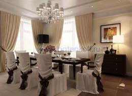 Дизайн проект гостиной в ардеко: Столовые комнаты в . Автор – Дизайн студия 'Дизайнер интерьера № 1'