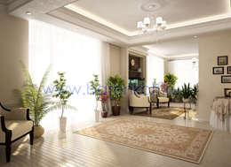 Дизайн зимнего сада с камином в классическом стиле: Зимние сады в . Автор – Дизайн студия 'Дизайнер интерьера № 1'