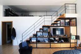 Salas / recibidores de estilo moderno por SDL 신정엽디자인연구소