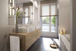 Wohnung in Frankfurt: moderne Badezimmer von winhard 3D
