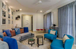 Nahata Residence.: modern Living room by In-situ Design