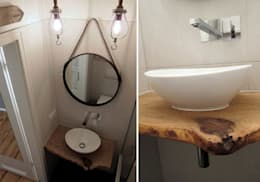 Bagno in stile in stile Moderno di Julia Kosina                                                                                                       Interior Design & Innenarchitektur