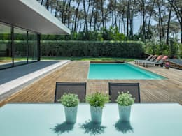 AM 2014 - Fão: Piscinas modernas por INAIN Interior Design