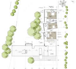 Planta nivel 2: Casas de estilo tropical por PLANTA BAJA ESTUDIO DE ARQUITECTURA