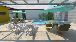 modern Pool by Nankyn Arquitetura & Consultoria
