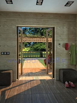 Corridor, hallway by Дизайн студия 'Дизайнер интерьера № 1'