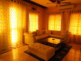 Residence.: modern Living room by Rita Mody Joshi & Associates
