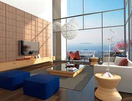 CCT INVESTMENTS – CCT 114 Project in Maltepe: modern tarz Oturma Odası
