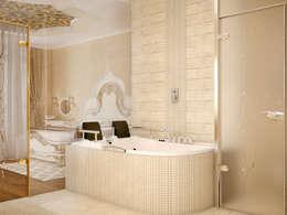 Tatiana Zaitseva Design Studio: asyatik tarz tarz Banyo