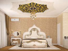 Tatiana Zaitseva Design Studio: asyatik tarz tarz Yatak Odası