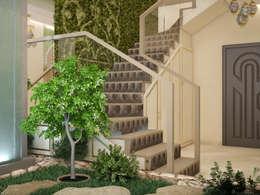 Jardines de invierno de estilo minimalista por Tatiana Zaitseva Design Studio