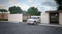 "Proyecto Arquitectónico "" Casa XC03""       : Casas de estilo moderno por PORTO Arquitectura + Diseño de Interiores"