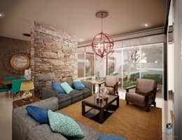 PORTO Arquitectura + Diseño de Interiores: modern tarz Oturma Odası