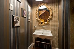 LAVABO - Mostra Morar Mais: Banheiros clássicos por Estúdio Pantarolli Miranda - Arquitetura, Design e Arte