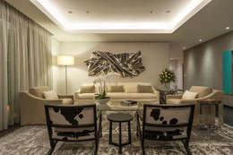 Projekty,  Salon zaprojektowane przez HO arquitectura de interiores
