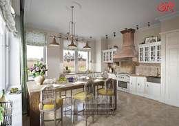 Дизайн кухни в стиле кантри. Современные идеи и фото: Кухни в . Автор – Olga's Studio