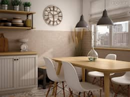 Cocinas de estilo escandinavo por Equipe Ceramicas