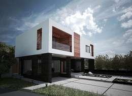 PARCELA // 65: Casas de estilo moderno por DOSA studio
