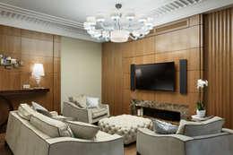 غرفة المعيشة تنفيذ Студия дизайна интерьера 'Юдин и Новиков'
