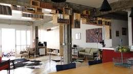غرفة المعيشة تنفيذ omnibus arquitetura