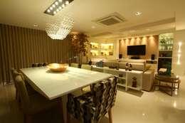 غرفة السفرة تنفيذ Oleari Arquitetura e Interiores