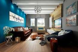 industrial Living room by Дизайн студия Алёны Чекалиной