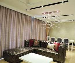 3bhk at Jogeshwari: modern Living room by SwitchOver Studio