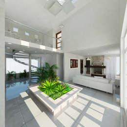 Pasillos, vestíbulos y escaleras de estilo moderno por JRM Diseño - Studio Arquitectura