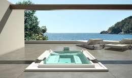 moderne Spa door Saunas Durán