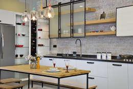 Cocinas de estilo industrial por Bodrum Femaş Mobilya