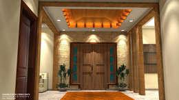 Couloir et hall d'entrée de style  par Al Imaraa