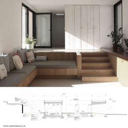 Maison Luynes: Salon de style de style Moderne par Atelier-Calas
