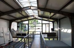 industrial Living room by buttler architekten